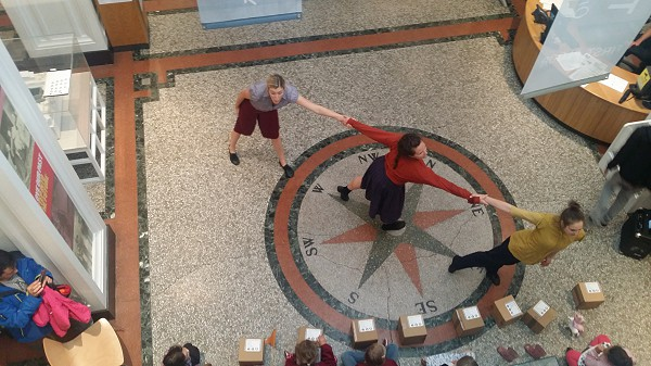 Dancers performing at Plymouth City Museum and Art Gallery before its closure in 2016