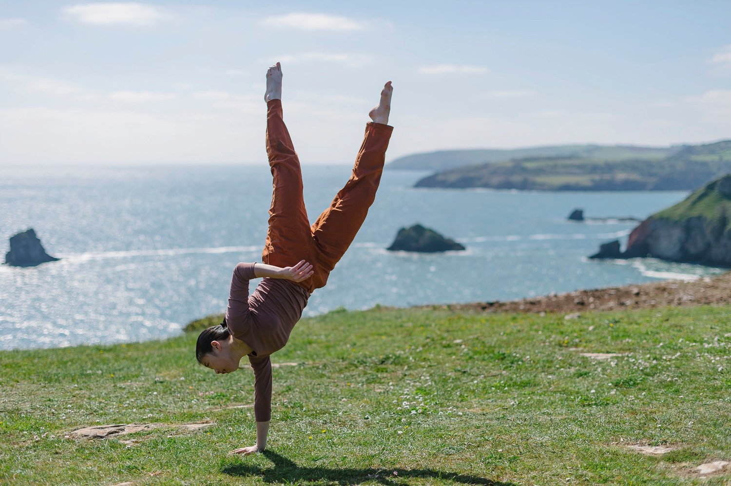 Dancer performing on Berry Head in Brixham