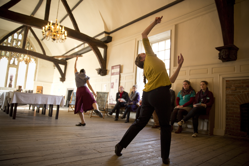Dancers performing at Boston Guildhall