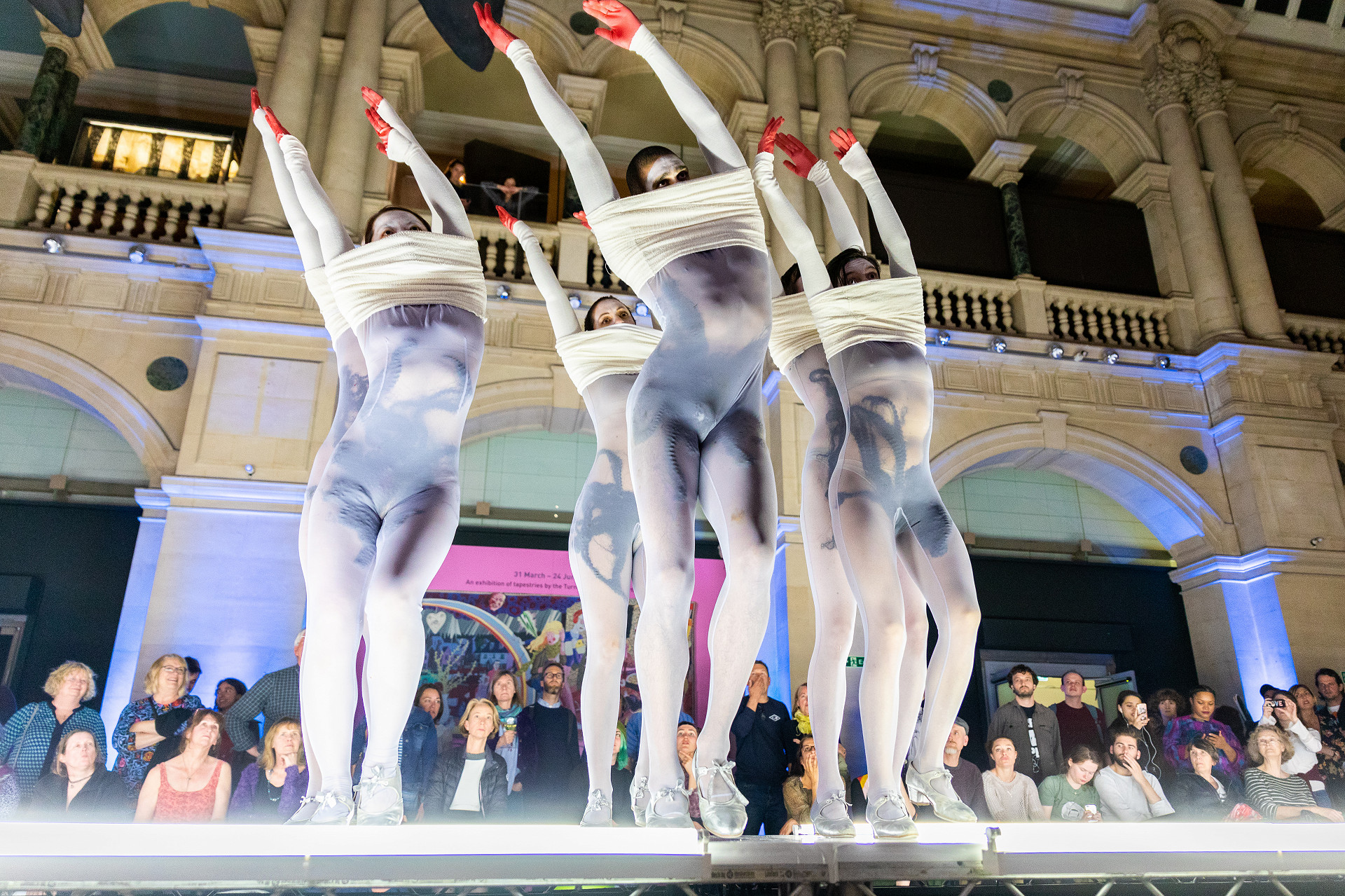 Image of dancers performing in Lea Anderson's 'Trying It On' at Bristol Museum